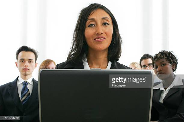 Businesspeople series : training IV