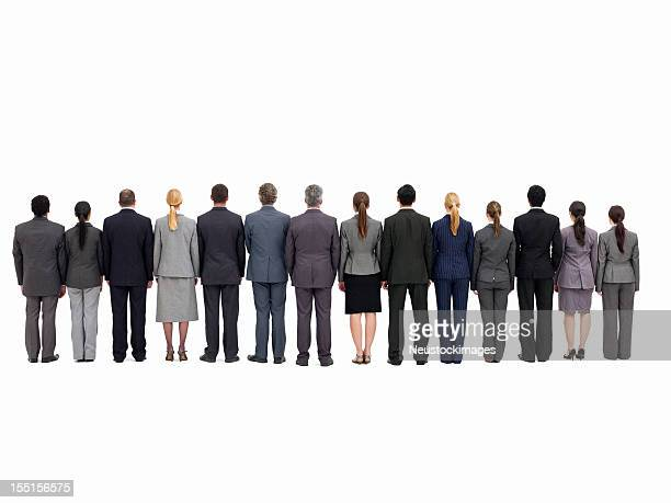 Businesspeople Standing with Backs to the Camera - Isolated
