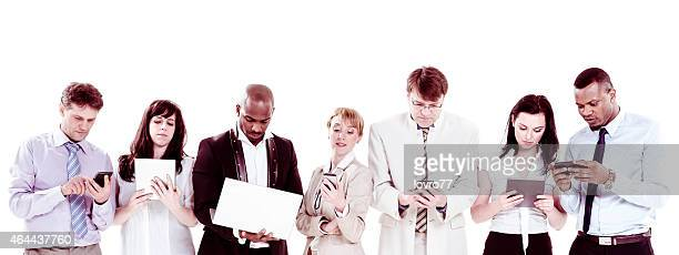 Businesspeople using  technology