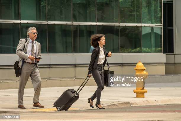 Businesspeople walking in the city