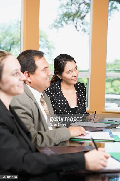 Businesspeople watching presentation