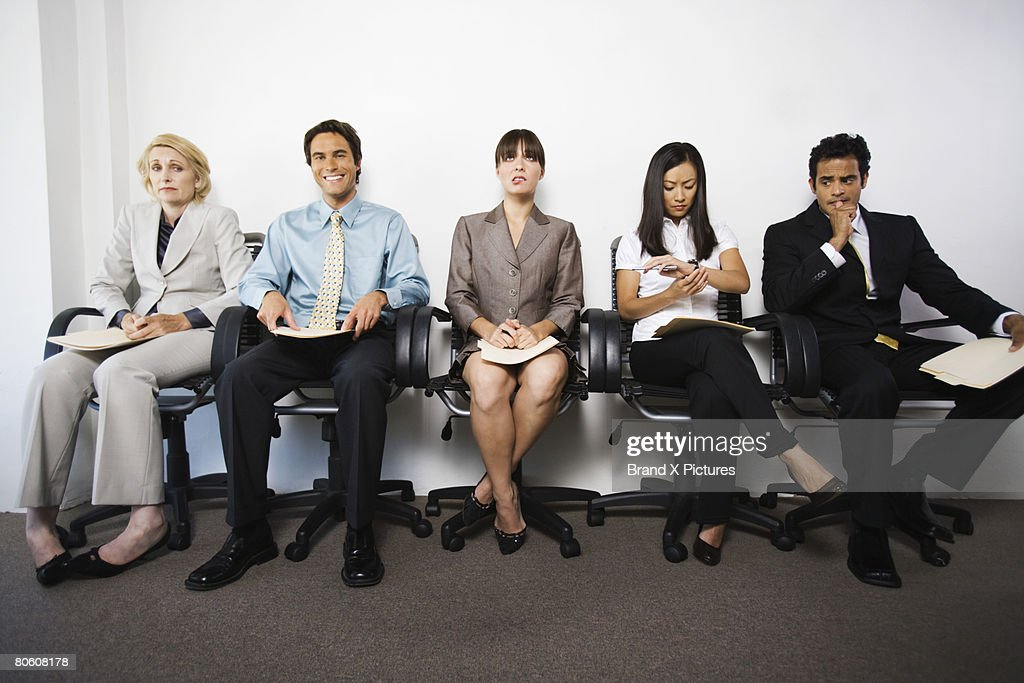 Businesspeople with various facial expressions : Stock Photo