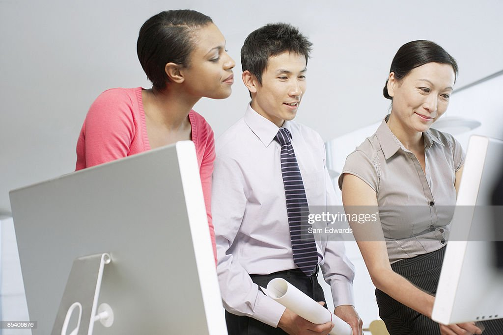 Businesspeople working together : Stock Photo