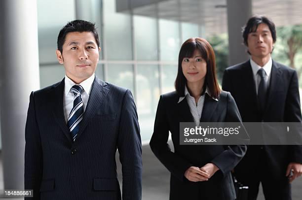 Businessperson und Unterstützung team