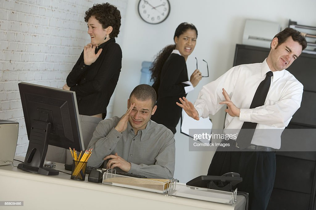 Businessperson at computer : Stock Photo