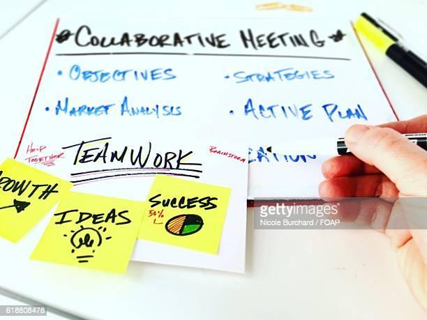 Businessperson making business planning