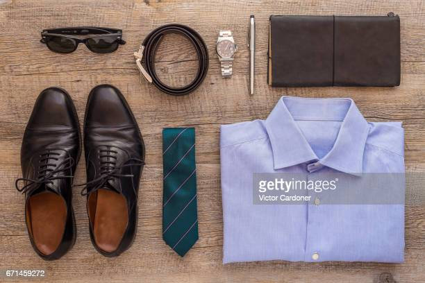 businesswear arranged - leather belt stock pictures, royalty-free photos & images