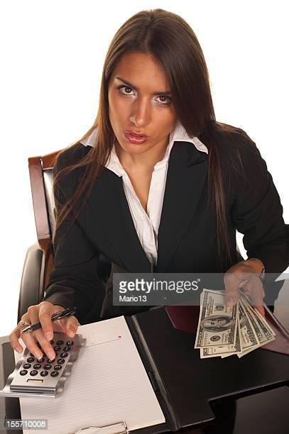 Businesswoman accounting profit
