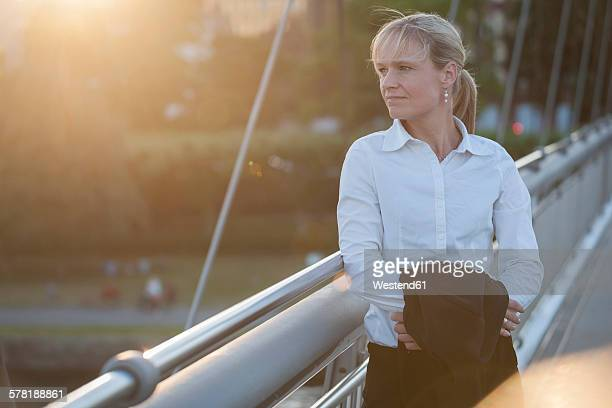 Businesswoman after work