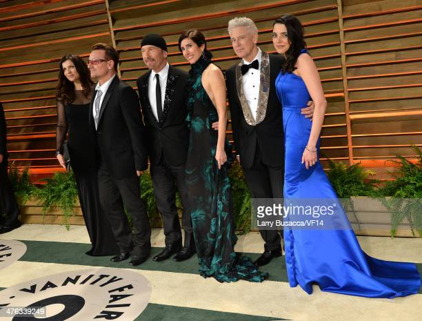Businesswoman Ali Hewson musician Bono musician The Edge choreographer Morleigh Steinberg musician Adam Clayton and model Mariana De Carvalho attend...