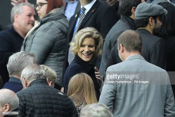 Businesswoman Amanda Staveley in the stands during the Premier League match at St James' Park Newcastle