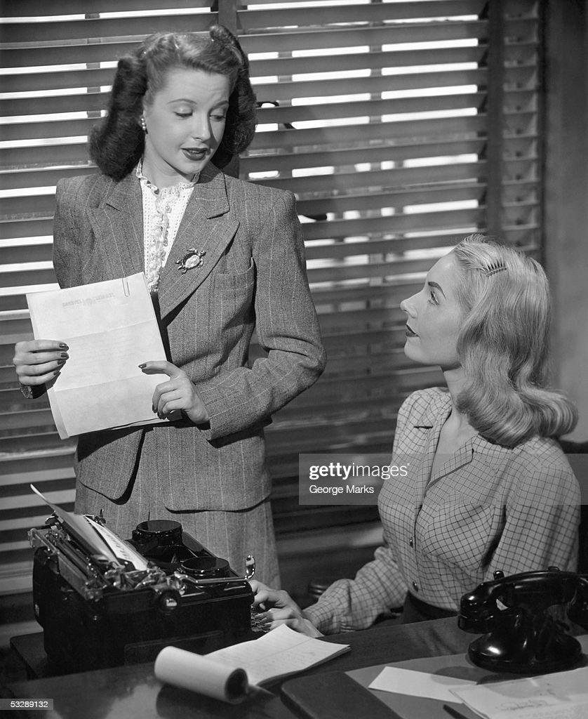 Businesswoman and her secretary : Stock Photo
