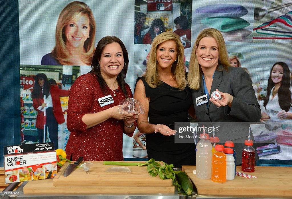 AMERICA - Businesswoman and inventor Joy Mangano, whose life is the subject of the new movie 'Joy,' is a guest GOOD MORNING AMERICA airing MONDAY, DEC, 21 (7-9am, ET) on the ABC Television Network. She awarded Jennifer Shipp and Nadine Savino checks of $10,000 each on GMA, so they can start their own business. (Photo by Ida Mae Astute/ABC via Getty Images) JENNIFER