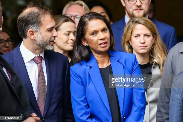 Businesswoman and political activist Gina Miller with her legal team outside Supreme Court in London, United Kingdom on September 24, 2019 after the...