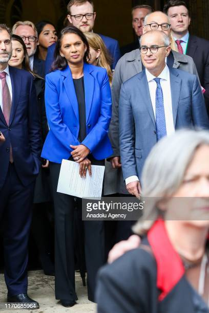 Businesswoman and political activist Gina Miller with her legal team outside Supreme Court in London United Kingdom on September 24 2019 after the...