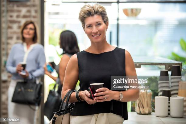 Businesswoman at a Cafe