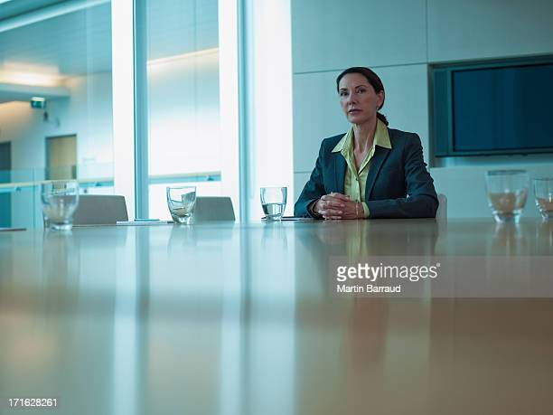 Businesswoman at  conference table in office