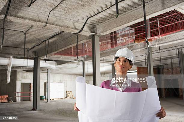 Businesswoman at Construction Site