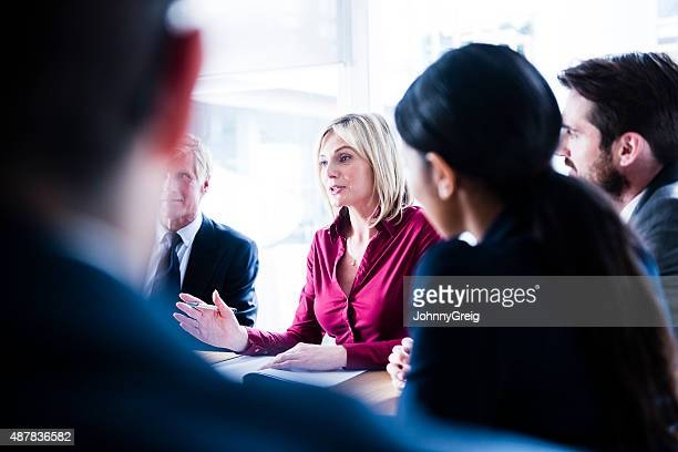 Businesswoman at work in business meeting