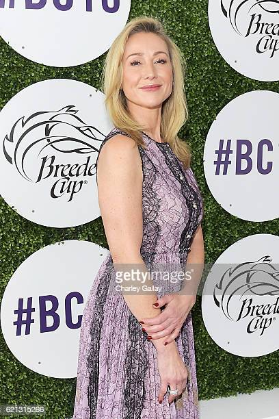 Businesswoman Belinda Stronach at the 2016 Breeders' Cup World Championships at Santa Anita Park on November 5 2016 in Arcadia California