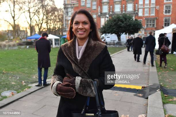 Businesswoman campaigner and author Gina Miller speaks to the media outside parliament in London on December 13 2018 Bloodied but not yet beaten...