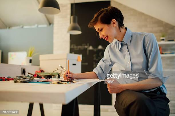 Mujer de negocios libro para colorear