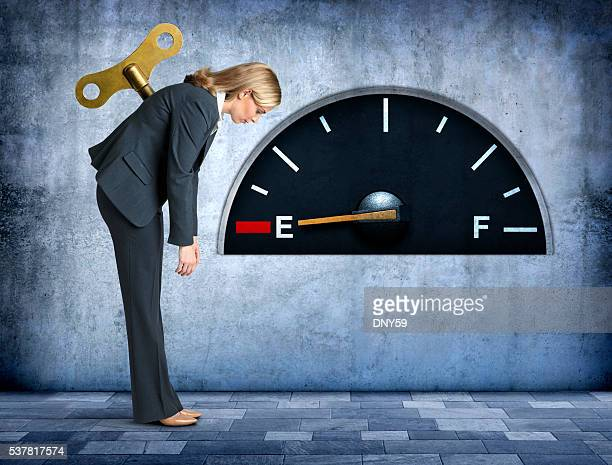 Businesswoman Completely Out Of Fuel