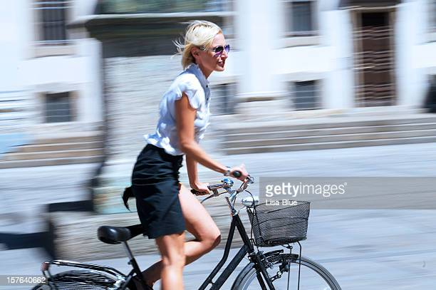 Empresaria ciclismo Escena urbana
