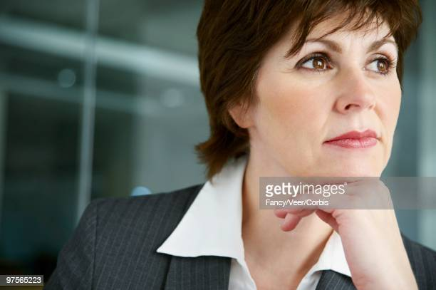 Businesswoman Daydreaming