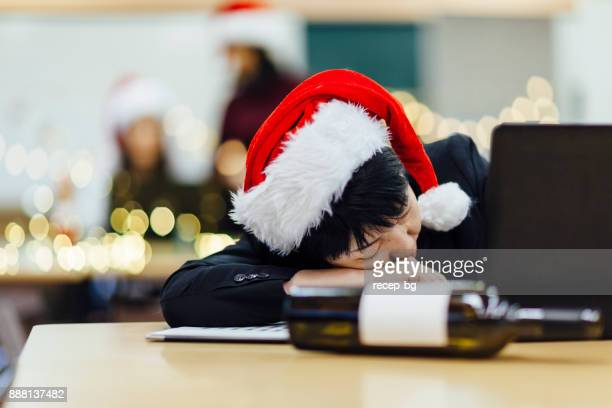 businesswoman drunk in office - morning after party stock pictures, royalty-free photos & images