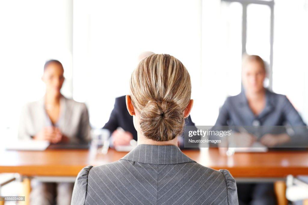 Businesswoman Getting Interviewed : Stock Photo
