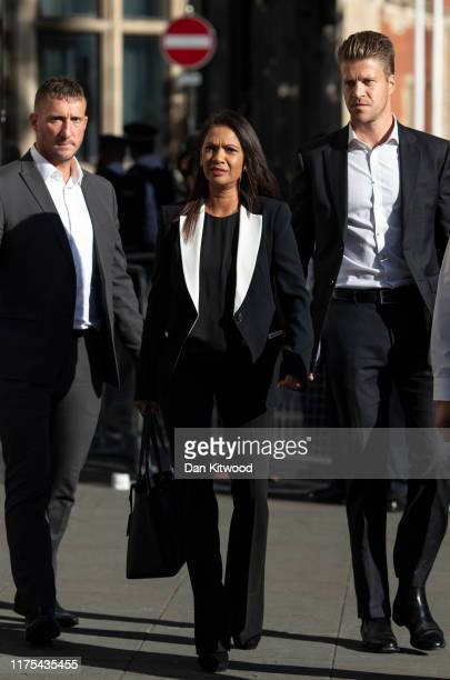 Businesswoman Gina Miller arrives at the Supreme Court ahead of a hearing on the legality of proroguing Parliament on September 18 2019 in London...