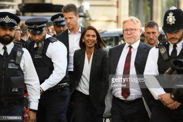 Businesswoman Gina Miller arrives at the Supreme Court ahead of a hearing on the legality of proroguing Parliament on September 19 2019 in London...