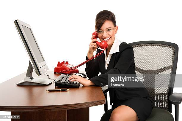 Businesswoman Happily Working