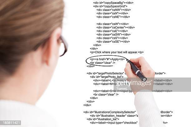 Businesswoman Highlighting Script