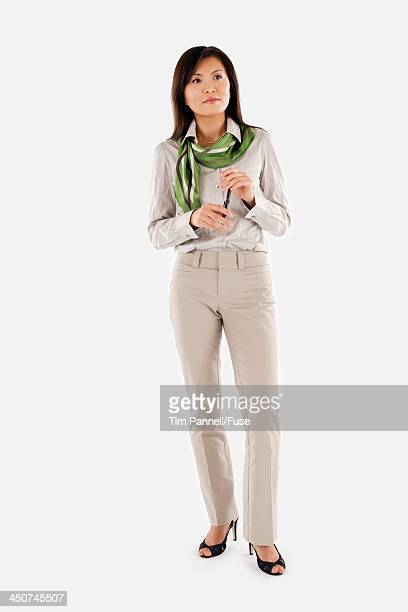 Businesswoman Holding Pen