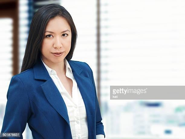 Businesswoman in an office, portrait