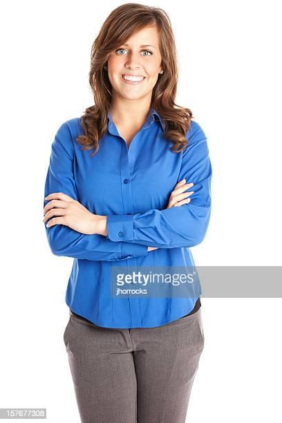 Geschäftsfrau in Blau