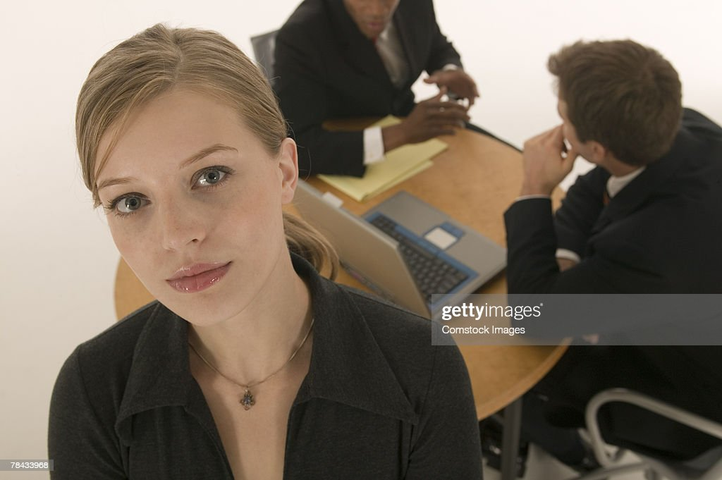 Businesswoman in conference room : Stockfoto