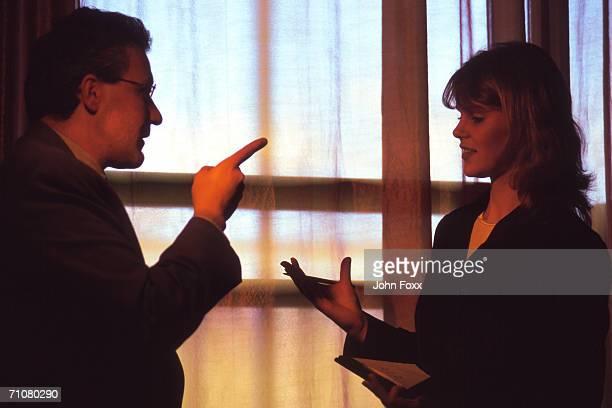 businesswoman in discussion