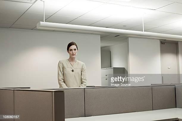 Businesswoman in empty office