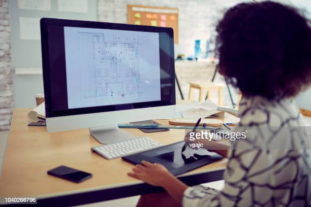 businesswoman in her office - back to work stock pictures, royalty-free photos & images