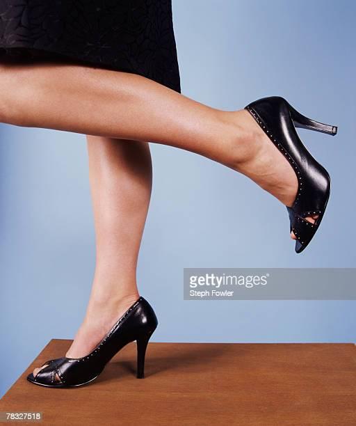Businesswoman in high heels
