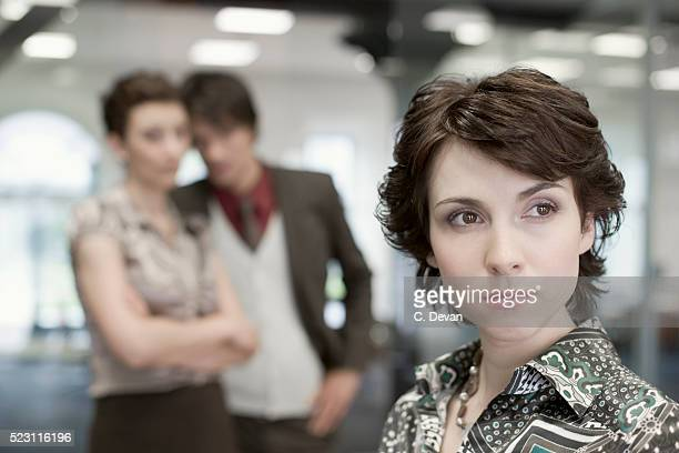businesswoman in office - rumor stock pictures, royalty-free photos & images