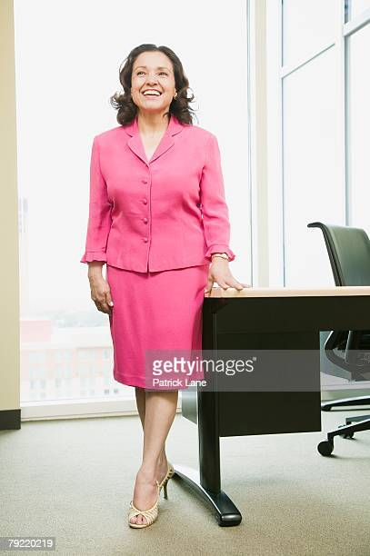 Businesswoman in pink suit