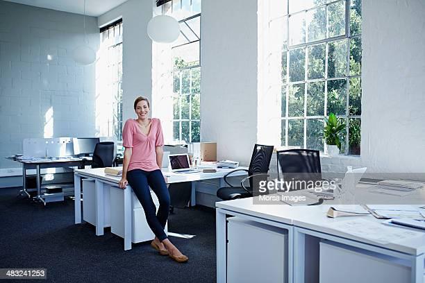 Businesswoman in trendy office