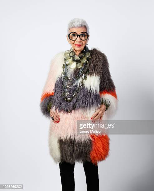 Businesswoman interior designer and fashion icon Iris Apfel is photographed for Christie's magazine on July 29 2018 in New York City United States