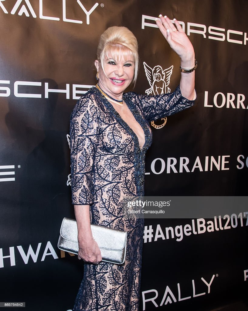 Businesswoman Ivana Trump arrives at Gabrielle's Angel Foundation's Angel Ball 2017 at Cipriani Wall Street on October 23, 2017 in New York City.