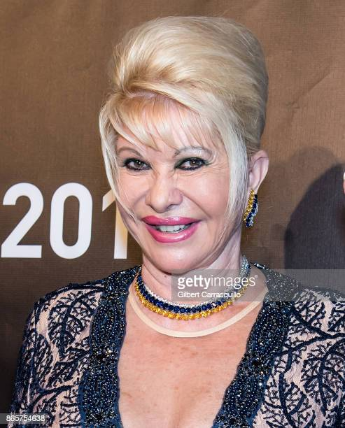 Businesswoman Ivana Trump arrives at Gabrielle's Angel Foundation's Angel Ball 2017 at Cipriani Wall Street on October 23 2017 in New York City