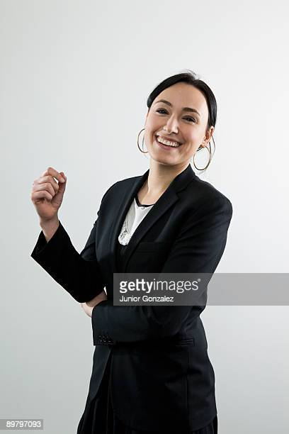 A businesswoman laughing, portrait